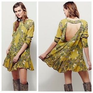 Free People Smooth Talker Floral Print Tunic Dress